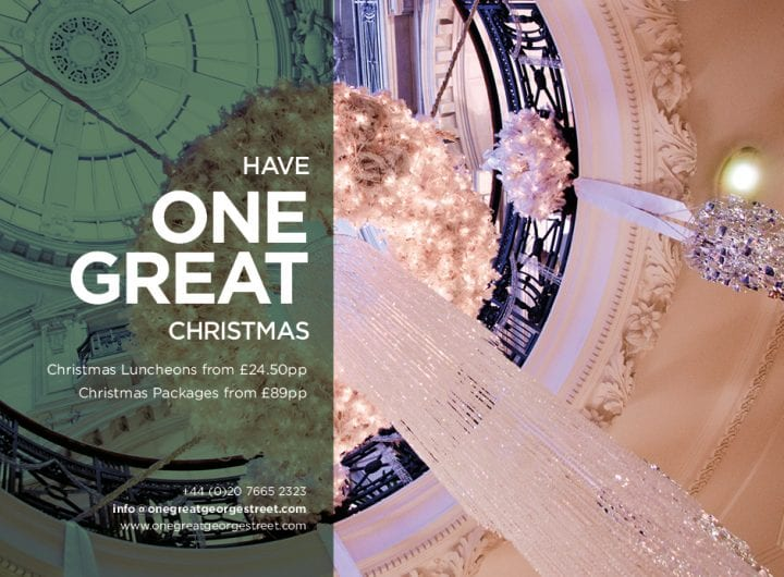 Christmas dinner packages from £89pp at One Great George Street
