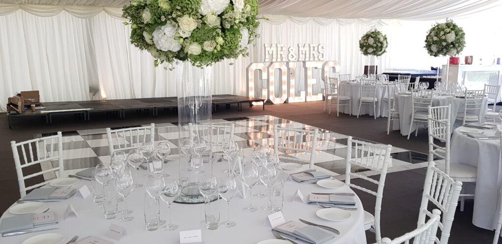 Wedding marquee at Regent's