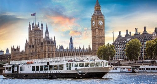 Enjoy a welcome cocktail with exclusive summer parties aboard Bateaux London's Harmony Vessel