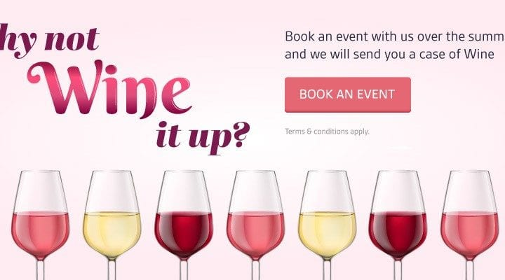 Cavendish Venues offers a complimentary case of wine with event bookings