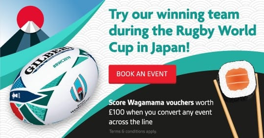 Cavendish Venues offers a complimentary £100 Wagamama's voucher with new event bookings
