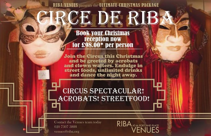 Join the circus at RIBA Venues