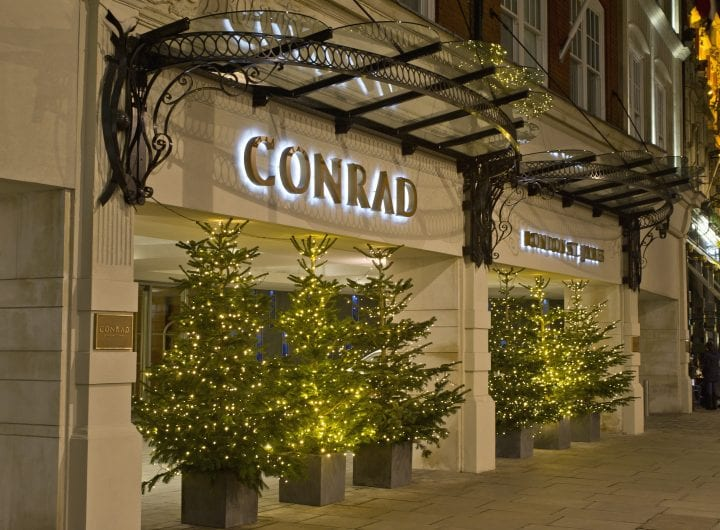 New festive menus and party packages at Conrad London St James