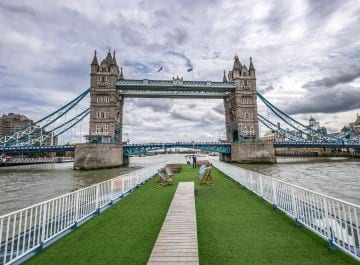 The Roof Garden Party on board with Bateaux London