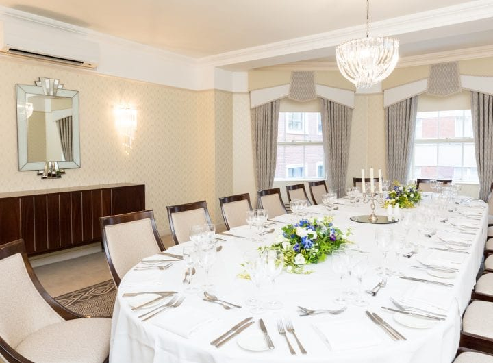 Private dining at the Lansdowne Club