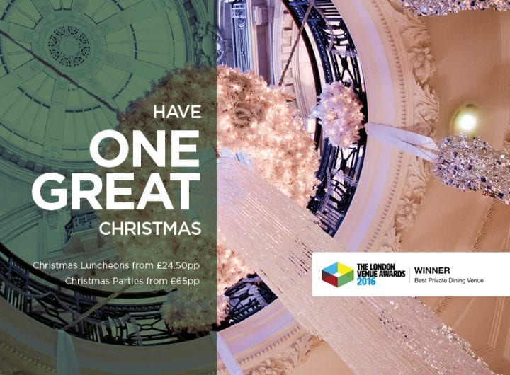 Just four dates remaining for One Great George Street Christmas dinner parties!