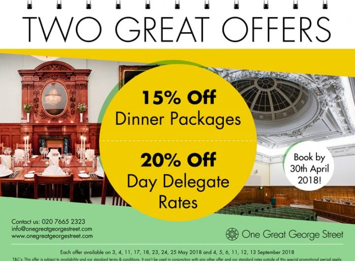 Up to 20% off at One Great George Street