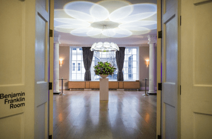 10% off room hire and 50% off spends for evening events at RSA House